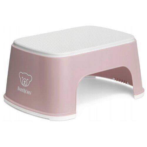 Купить Подставка для ног BabyBjorn 0612 powder pink/white, Сиденья, подставки, горки