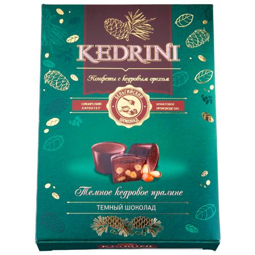 Набор конфет Kedrini Темное кедровое пралине в темном шоколаде зеленый laima царицино ассорти конфет в темном шоколаде 360 г