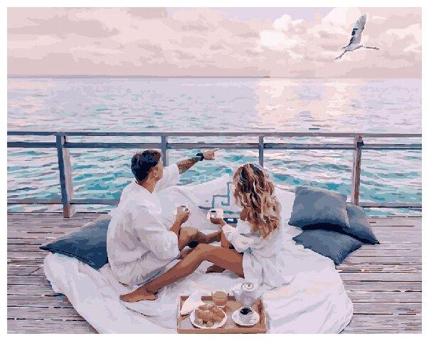 Купить Картины по Номерам на Холсте 40 х 50 см Завтрак - У моря Холст на Подрамнике по низкой цене с доставкой из Яндекс.Маркета (бывший Беру)