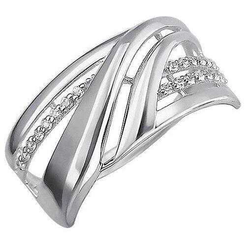 Эстет Кольцо с 21 фианитом из серебра Н11К152984, размер 17