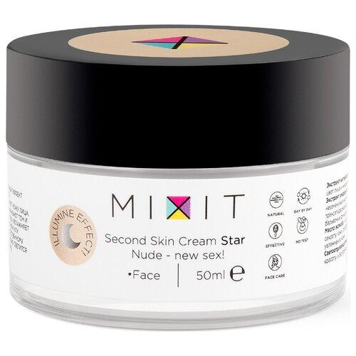 MIXIT Second Skin Cream Colour Star Увлажняющий иллюминирующий крем для лица с эффектом второй кожи, 50 мл mixit second skin cream colour sun увлажняющий иллюминирующий крем с эффектом второй кожи 50 мл