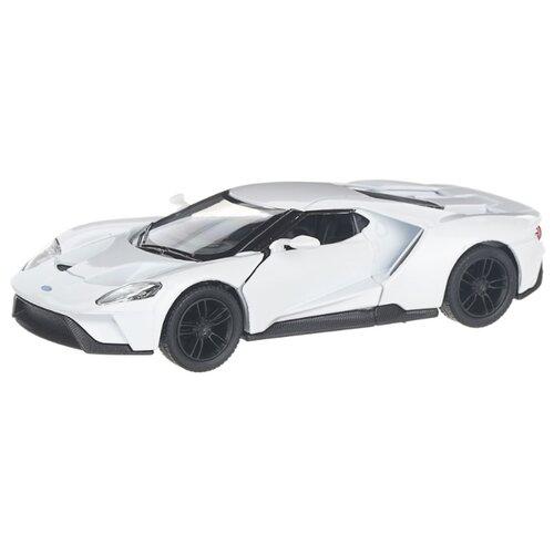 Купить Детская инерционная металлическая машинка с открывающимися дверями, модель 2017 Ford GT, белый, Serinity Toys, Машинки и техника