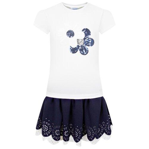 Купить Комплект одежды Mayoral размер 98, белый/синий, Комплекты и форма