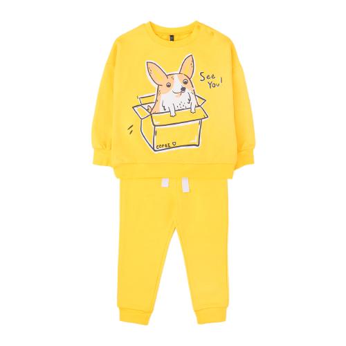 Фото - Комплект одежды crockid размер 74, желтый к265 комплект одежды crockid размер 74 белый розовый