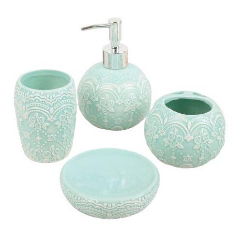 Фото - Набор для ванной Доляна Грация 2698474, голубой набор для ванной доляна грация 2698471 персиковый
