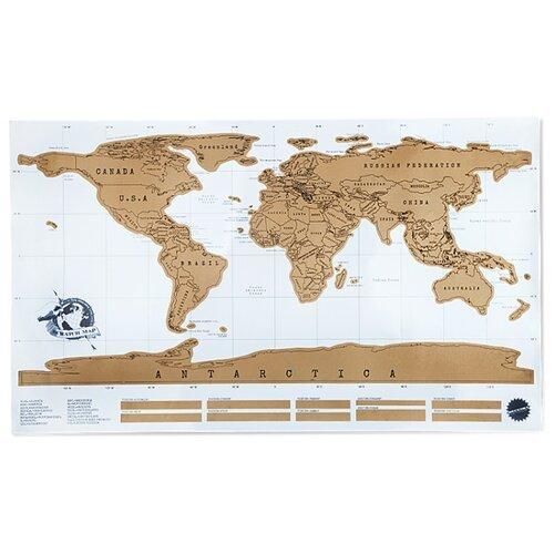 Зеленый Шар Скретч-карта мира Стиральная карта путешествий SC0002