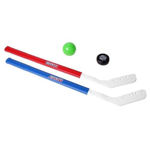 Купить Набор для игры в хоккей ТехноК (5569) белый/синий/красный, Спортивные игры и игрушки