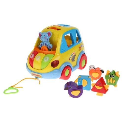 цена на Каталка-игрушка Play Smart Автошка (9198 / B655-H01018) желтый/голубой/красный