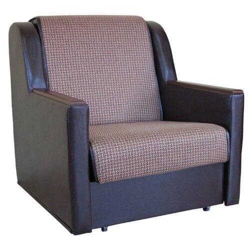 Кресло-кровать Шарм-Дизайн Аккорд Д размер: 90х101 см, , размер спального места: 194х70 см, обивка: комбинированная, цвет: рогожка коричневый