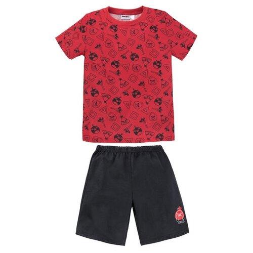 Пижама Bossa Nova размер 86-92, красный/черный