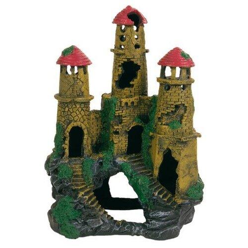 Грот TRIXIE Замок, большой высота 22 см зеленый/коричневый/красный/серый