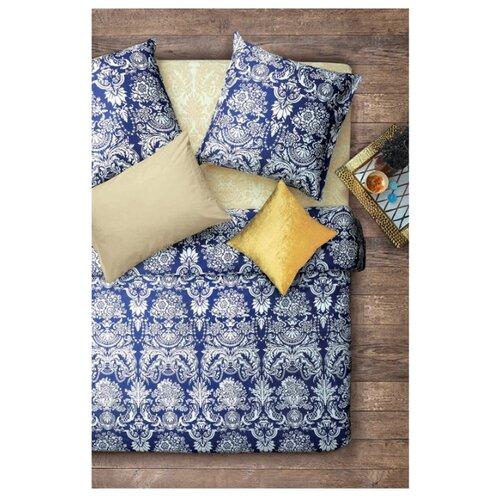 Постельное белье 1.5-спальное Sova & Javoronok Византия 70х70 см, бязь бежевый/синий постельное белье 1 5 спальное sova