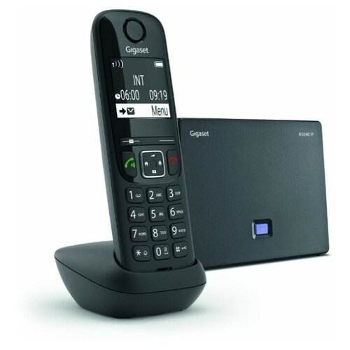 Фото - IP/Dect телефон Gigaset AS690 IP RUS BLACK радиотелефон gigaset as690 black