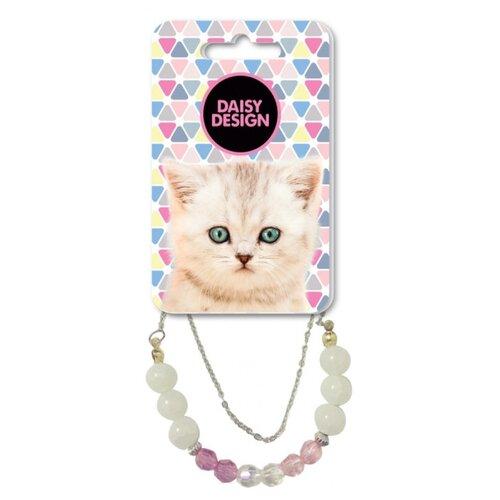 Браслет Daisy Design Kittens Габби белый/розовый/серебристый