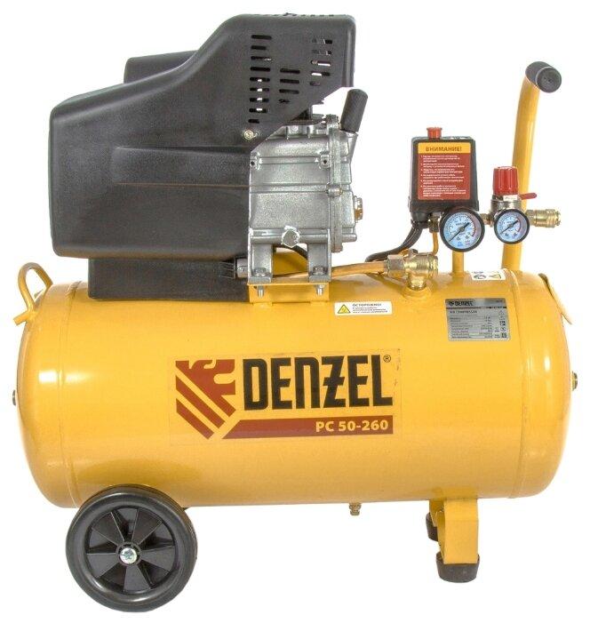 Компрессор масляный Denzel PC 50-260, 50 л, 1.8 кВт