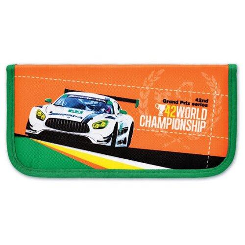 Феникс+ Пенал Гран-при (46277) зеленый/оранжевый