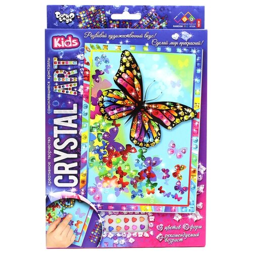 Купить Danko Toys Набор алмазной вышивки Crystal Art Бабочки (Cart-01-02), Алмазная вышивка