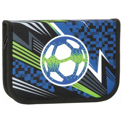 Купить TIGER FAMILY Пенал с наполнением Striking Football (228921) синий/серый/зеленый, Пеналы