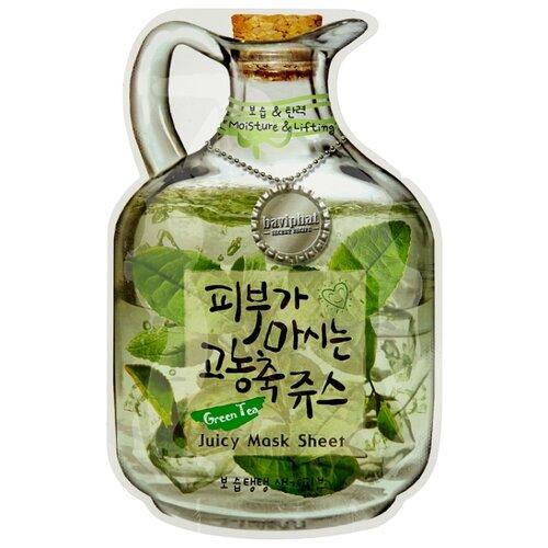 Baviphat тканевая фруктовая маска Green Tea Juicy Mask Sheet Moisture & Lifting, 23 г маска green tea