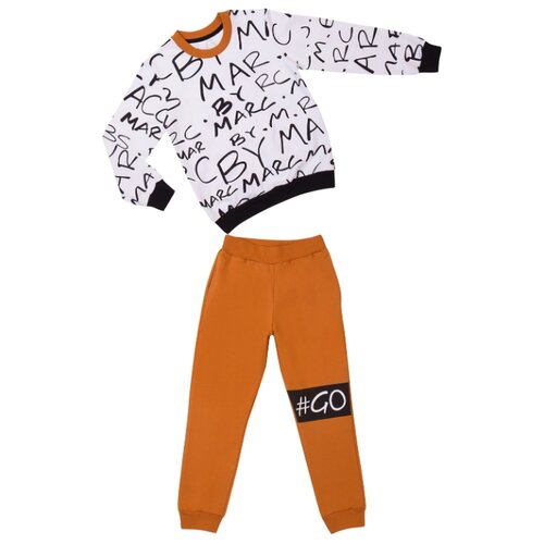 Купить Комплект одежды ALENA размер 128-134, белый/горчичный, Комплекты и форма
