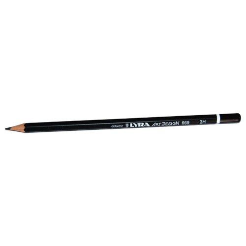 Купить Lyra Карандаш чернографитный Art design 3H (L1110113), Карандаши