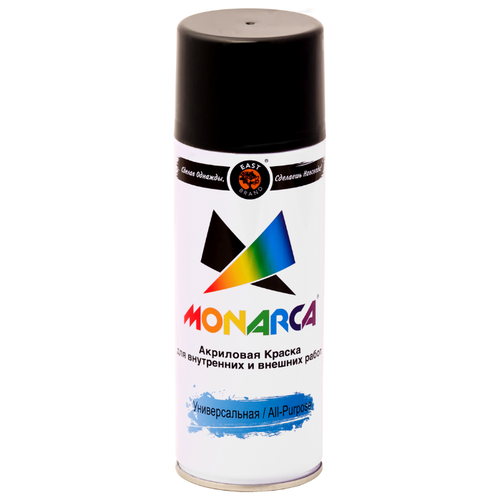 Краска Eastbrand Monarca универсальная RAL 9005 черный глянцевый 520 мл