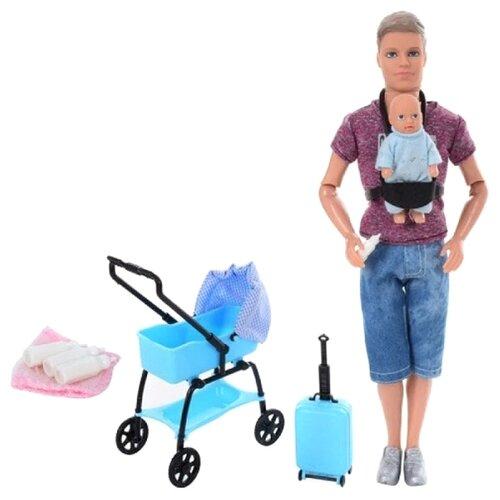 Купить Кукла Defa Kevin Кевин с младенцем, 29 см, 8369 dark pink, Defa Lucy, Куклы и пупсы