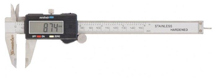Цифровой штангенциркуль matrix 31611 150 мм, 0.01 мм