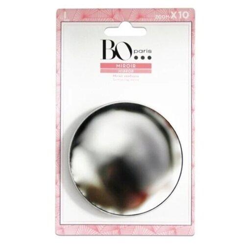 Зеркало косметическое настенное BO Paris x 10 на присосках серебро