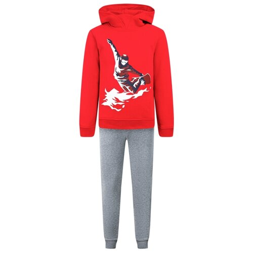 Купить Комплект одежды Il Gufo размер 128, красный/серый, Комплекты и форма