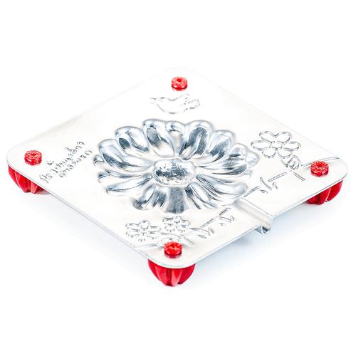 Форма для мармелада Леденцовая фабрика Цветок (0048) серебристый