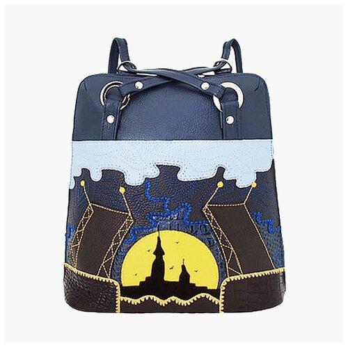 Сумка-рюкзак Protege ДС-226-82 Город-12 синяя
