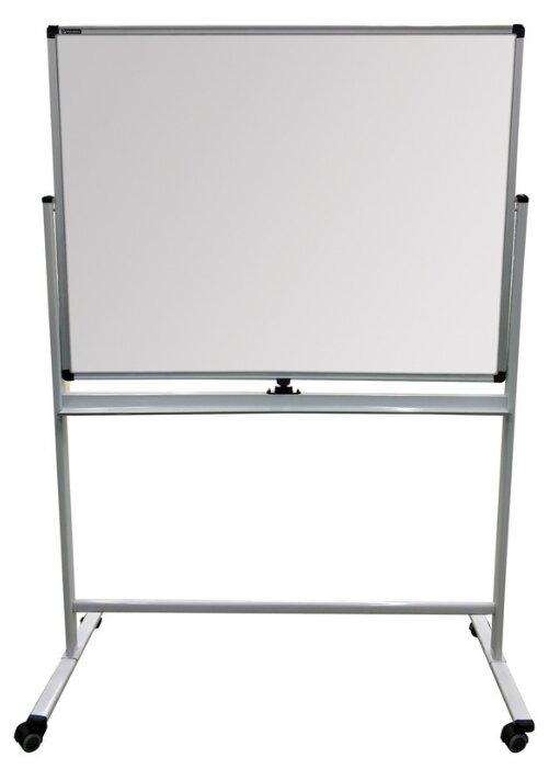 Доска для мела/магнитно-маркерная на стенде (90х120 см), 2-сторонняя, зеленая/белая, BRAUBERG PREMIUM, 236852