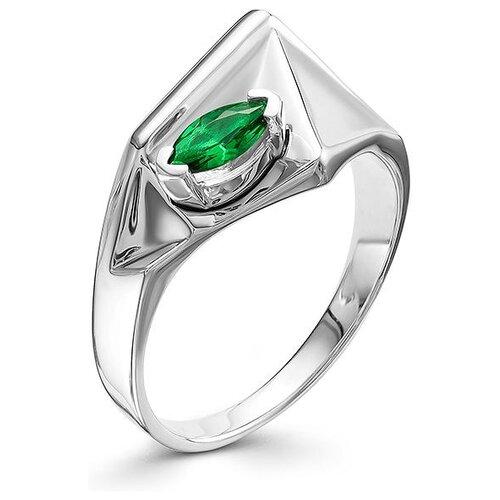 АЛЬКОР Кольцо с 1 изумрудом из серебра 01-0560-00НИ-00, размер 17 алькор кольцо с 1 изумрудом из серебра 01 0577 00ни 00 размер 18