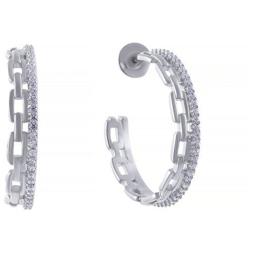 Фото - ELEMENT47 Серьги из серебра 925 пробы с фианитами SY-363573-E-SR-001-WG element47 серьги из серебра 925 пробы с иолитами и фианитами e 53 sr il 001 wg