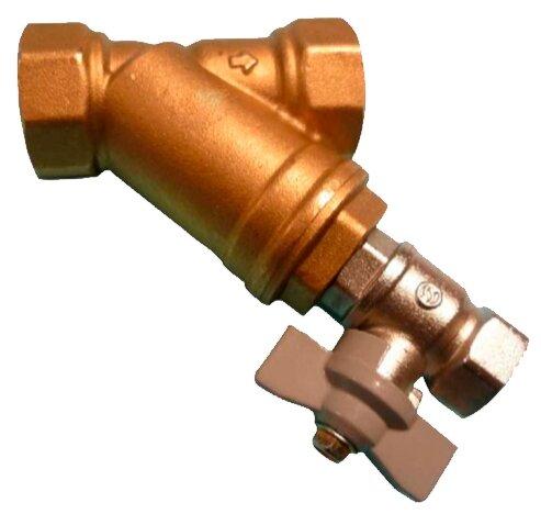 Фильтр механической очистки Tecofi F2142 муфтовый (ВР/ВР), латунь, со сливом