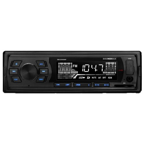 Автомагнитола SoundMAX SM-CCR3055F, черный