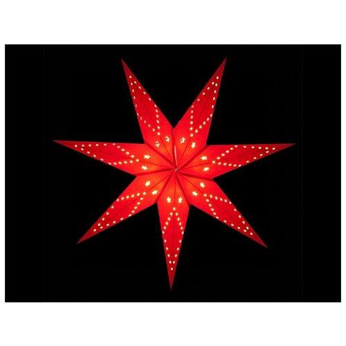Фото - Подвесная звезда-плафон РОЖДЕСТВЕНСКАЯ ЗВЕЗДА бумажная, красная, 10 LED ламп, 70 см, батарейки, SNOWMEN Е96393 литвак илья святочные рассказы рождественская девочка счастливая звезда софи