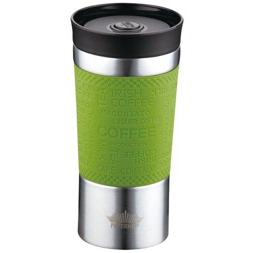 Термокружка Peterhof Travel Mug PH-12438, 0.38 л зеленый