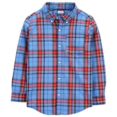 Рубашка Carter's размер 8, blue/red