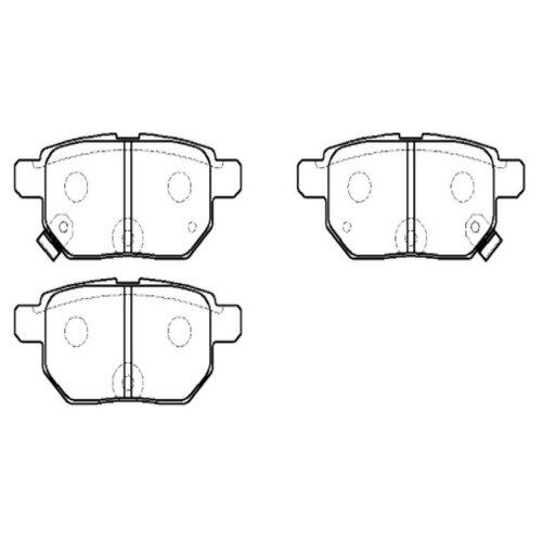 Фото - Дисковые тормозные колодки задние HONG SUNG BRAKE HP5181 для Toyota Corolla, Toyota Yaris, Toyota Vitz, Toyota Prius (4 шт.) дисковые тормозные колодки задние nibk pn1243 для toyota land cruiser prado 4 шт
