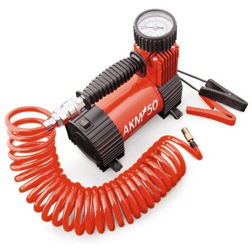 Автомобильный компрессор AUTOPROFI AKM-50 красный/черный