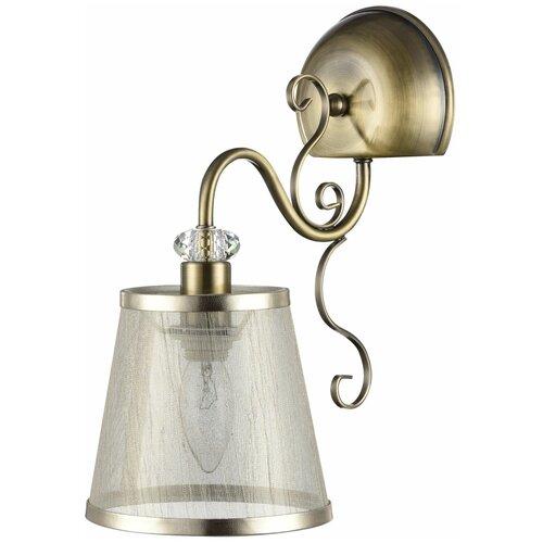 Настенный светильник FREYA Driana FR2405-WL-01-BZ, E14, 40 Вт, кол-во ламп: 1 шт., цвет арматуры: бронзовый, цвет плафона: бежевый
