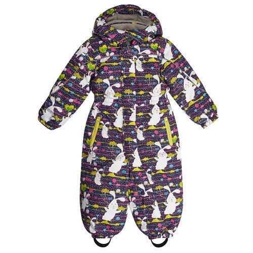 Купить Комбинезон Oldos Зайчик размер 80, фиолетовый, Теплые комбинезоны
