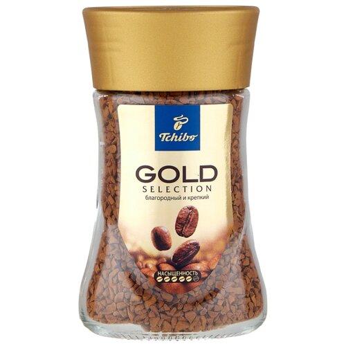 Кофе растворимый Tchibo Gold Selection, стеклянная банка, 47.5 г кожаный ремень tchibo