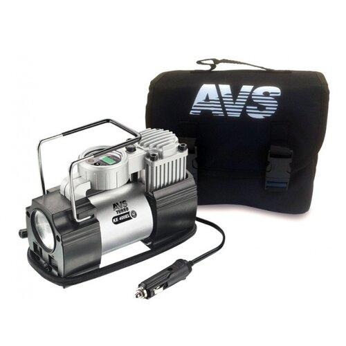 Автомобильный компрессор AVS KE400EL серебристый инвертор avs in 200w серебристый