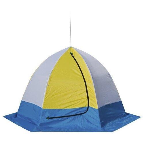 Фото - Палатка СТЭК Elite 4 (трехслойная дышащая) желтый/белый/синий палатка jian hong замок принца 200280835 синий желтый