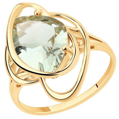 SOKOLOV Кольцо из золота с аметистовым 716026, размер 17