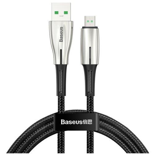 Фото - Кабель USB - micro USB 2м Baseus Waterdrop Cable 4A - Черный (CAMRD-C01) кабель micro usb baseus camgh e01 halo data cable usb for micro 2a 3м black черный
