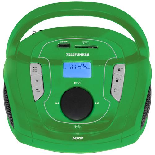 Магнитола TELEFUNKEN TF-SRP3471B зеленый